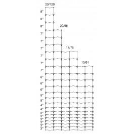 "96"" High, 20-96-6, BEZ Black, 330' Roll"