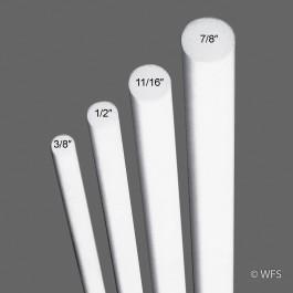 """Fiberglass Rod, ½"""" x 4'"""