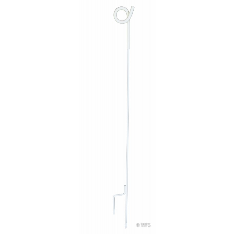 """35"""" Pig Tail Post, White"""