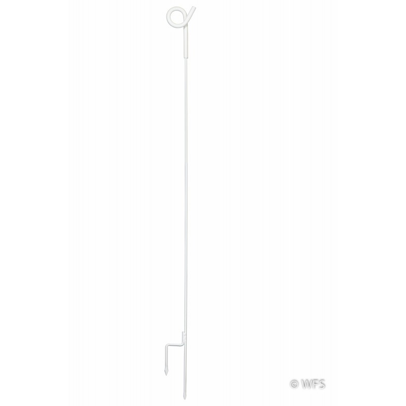 "45"" Pig Tail Post, White"