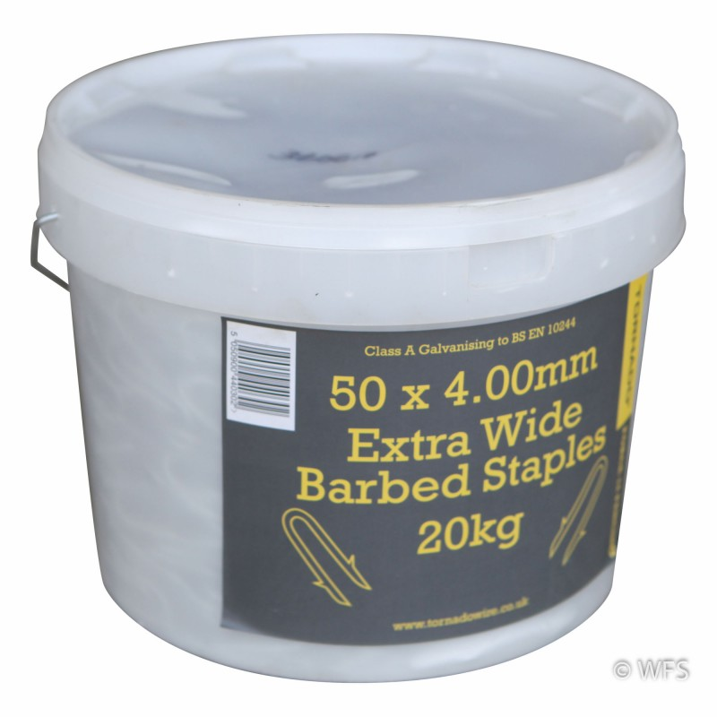 "2"" Barbed SupaTube Staples, C3 Coated, 44 lb. tub"