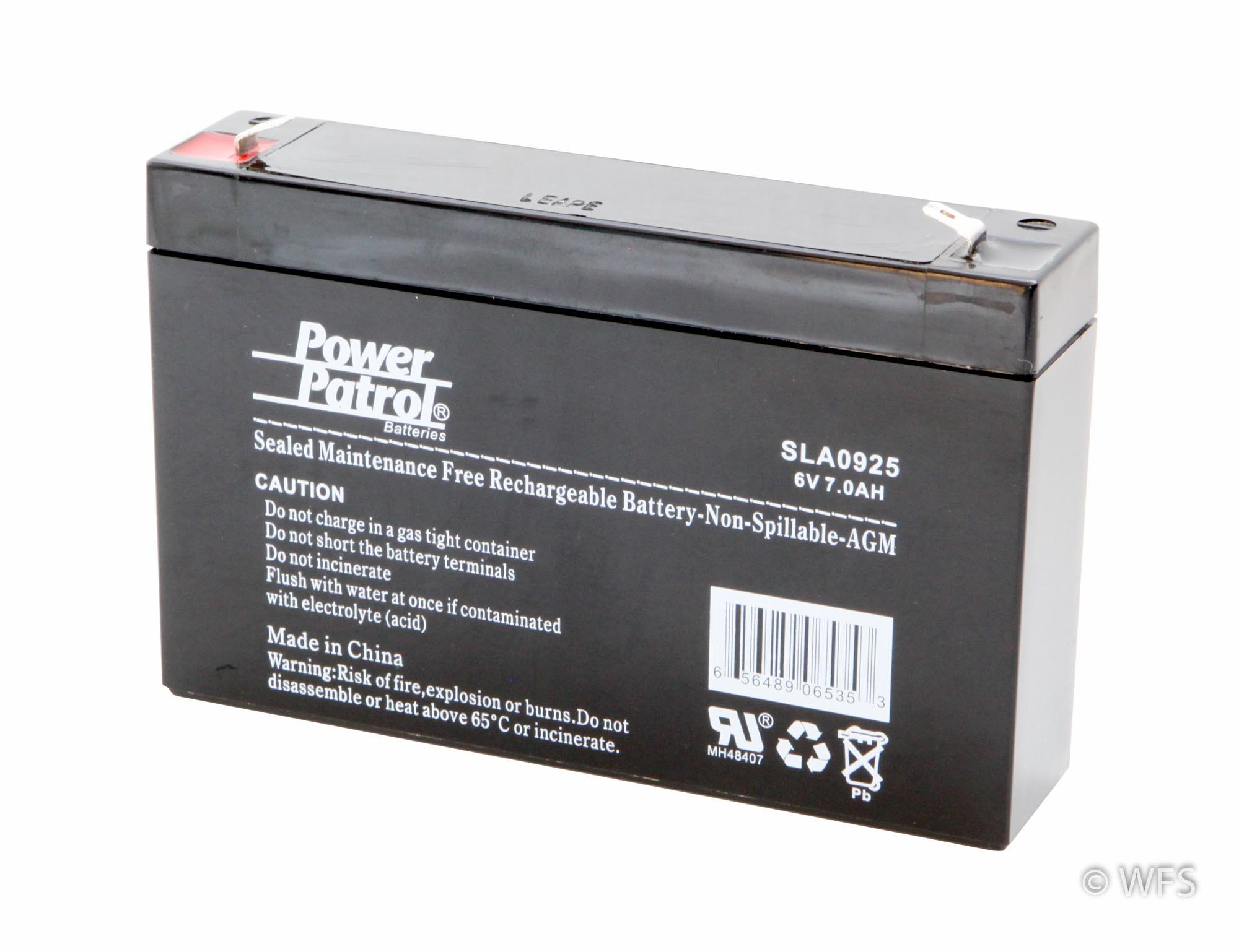 Sealed Agm Battery 6 Volt 7 Amp