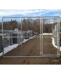 "98"" x 12' Heavy Duty 4x4"" Mesh Gate with 4' Walk-Thru Gate"